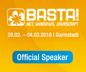 Official Speaker at BASTA! 2016 Spring Edition